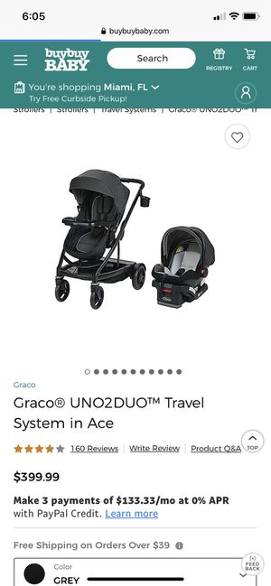 Graco uno2duo stroller and infant car seat for Sale in Homestead, FL