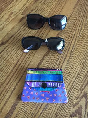 Two Pair of Sunglasses and new coin purse for Sale in Troutdale, OR