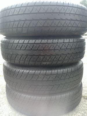 205 75 15 off a boat trailer 6 ply load range c tires have 99% tread left almost new $200 all 4 With free mount balance and installation included for Sale in Tacoma, WA
