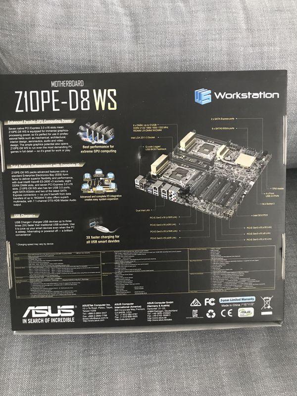 ASUS Z10PE-D8 WS - motherboard - SSI EEB - LGA2011-v3 Socket - C612