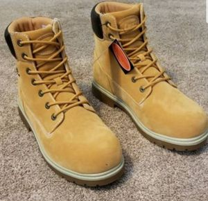NEW/TAGS:Men's WORK or CASUAL SLIP RESISTANT Boots. Work/casual. Wheat Lace Ups -Men's: 9, 10, 10.5. Ppp for Sale in Maple Valley, WA