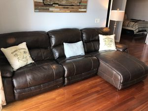 Beautiful leather power-reclining sectional. $900 OBO for Sale in Tampa, FL