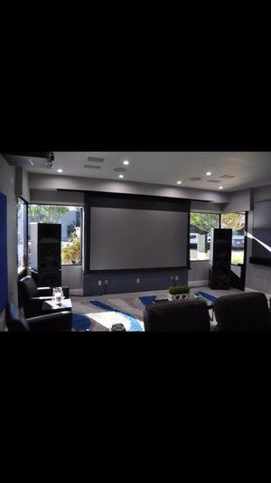 """Stewart Film Screen 92"""" in-ceiling motorized firehawk projector screen for Sale in Phoenix, AZ"""