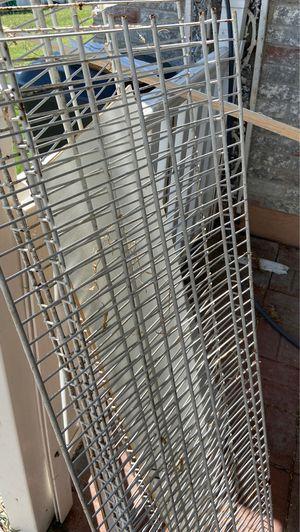 4 shelf racks 4 ft 48 inches white for Sale in Grand Prairie, TX