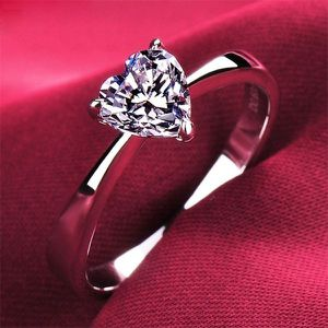 NEW Diamond Heart Shaped Ring for Women Engagement Proposal Anniversary Wedding Promise Ring for Sale in Las Vegas, NV