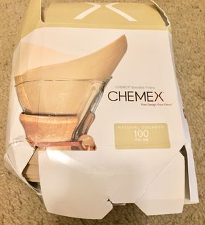 Chemex Natural Coffee Filters, Square, 100ct for Sale in Indianapolis, IN