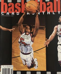 Beckett October 1999 issue #111 Vince Carter Commemorative Highlight Cover. In Plastic Cover for Sale in Boston,  MA