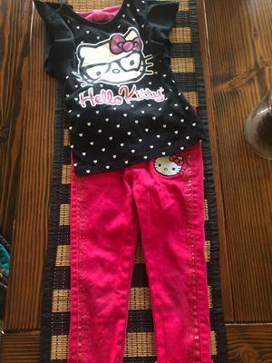 Pink and black Hello kitty outfit for Sale in Visalia, CA