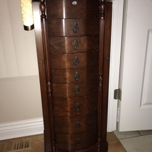 Beautiful Jewerly Armoire Real Wood for Sale in Bellwood, IL