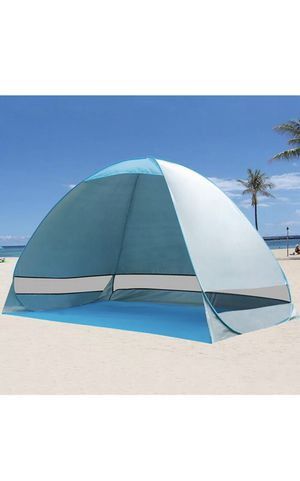 Pop Up Beach Tent Sun Shade Shelter Outdoor Camping Automatic Canopy 2-3 Person for Sale in Milpitas, CA