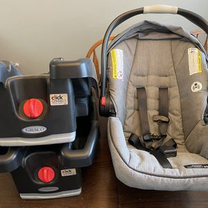 Graco Click Connect Car seat With 2 Bases for Sale in Kyle, TX