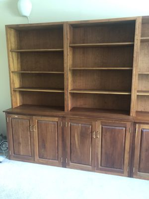 Bookshelves cabinet solid wood for Sale in Silver Spring, MD