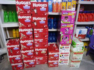 $15 Huggies Little Movers & Wipes for Sale in Heath, TX