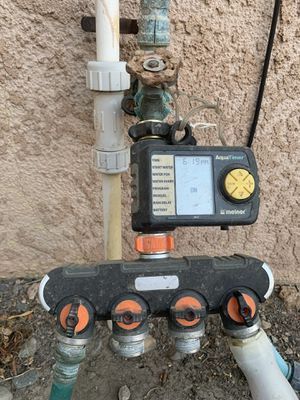 Water timer and hose splitter for Sale in Hanford, CA