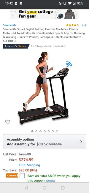 Serene life treadmill foldable for Sale in Westerville, OH