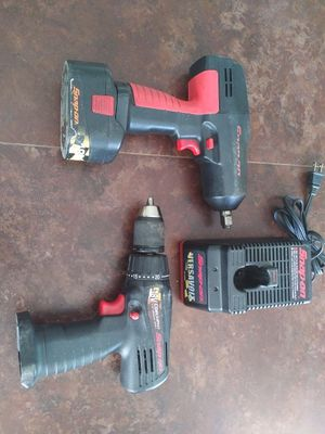 Snap on 18V impact wrench CT3850 & CDR 3850 Drill charger & battery for Sale in Tampa, FL