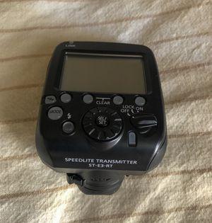 Canon Speedlite 600ex II RT and canon Speedlite transmitter ST-E3-RT for Sale in Irvine, CA