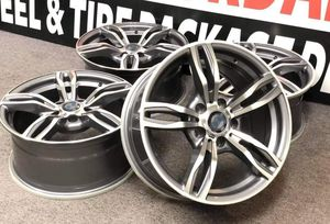 17 17x8 inch Black Rims fits 5x120 BMW 5x120 ET34 CB72.6 Wheels Set of 4 new 740 BestTires 📍33733 Groesbeck Hwy Fraser, MI 48026 julia for Sale in Sterling Heights, MI