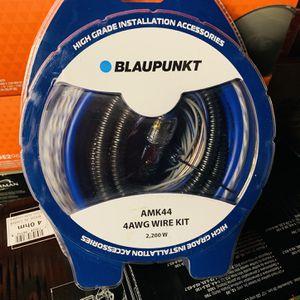Blaupunkt 4 Gauge Amp Installation Kit for Sale in San Bernardino, CA