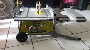 "10"" ryobi table saw with folding legs for Sale in Hialeah, FL"