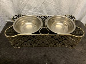 Dual dish dog or cat bowls for Sale in Buena Park, CA