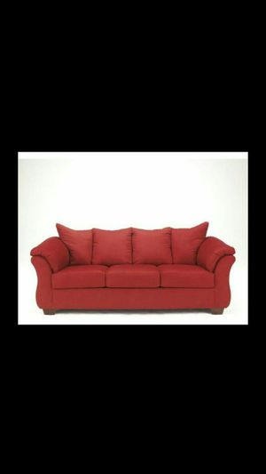 Red couch for Sale in Cleveland, OH