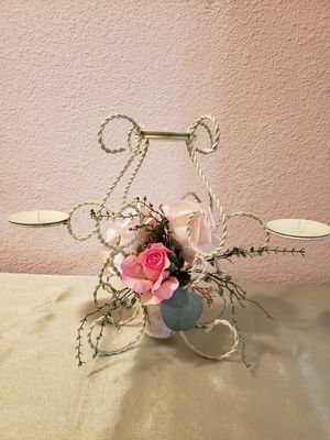 Shabby chic candle holder for Sale in San Antonio, TX