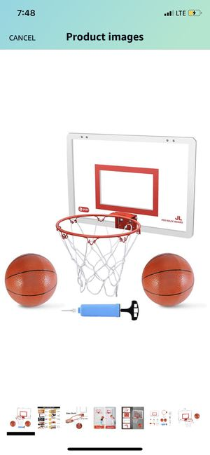 "Mini Basketball Hoop Set for Door & Wall - 18"" x 12"" Board, 2 Balls & Pump with Complete Accessories, Basketball Toys Gifts for Kids Boys Teens, Indo for Sale in Torrance, CA"
