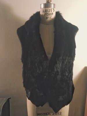 Black genuine Rabbit fur vest for Sale for sale  New York, NY