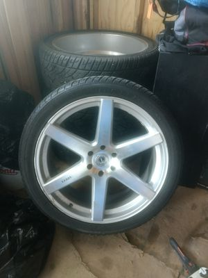 Rims with tires 24's obo for Chevy 6 lugs for Sale in San Antonio, TX