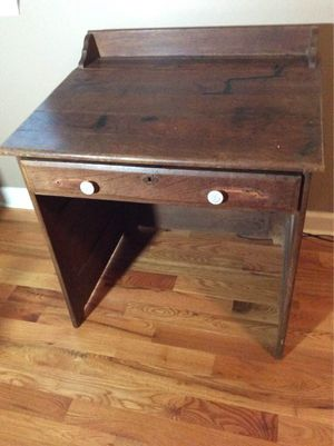 Antique slant top writing table desk for Sale in Inman, SC