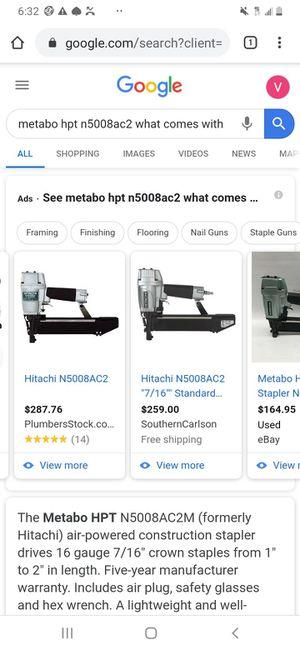 Hitachi metabo hot 7/16 air pressure nail gun for Sale in Cypress, CA