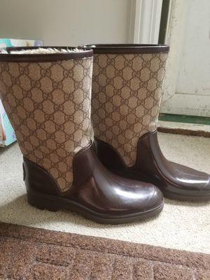 Gucci fur lined rain boots for Sale in Verona, PA