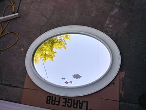 Large oval mirror with beveled edges for Sale in Arcadia, CA