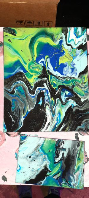 Acrylic Pour Painting for Sale in Seattle, WA