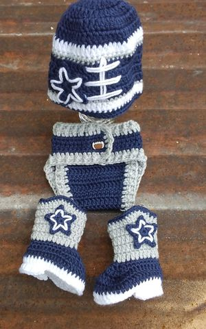 Crochet baby in navy blue outfit. for Sale in Fort Worth, TX