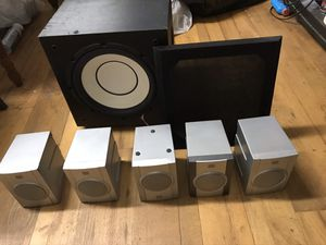 Sound 5.1 audio system! Yamaha subwoofer, delux speakers (two fronts, one center and two rear speakers) for Sale in Fresno, CA