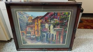 Large Monet style paintings wall art pictures wood decorative decor for Sale in San Marcos, CA