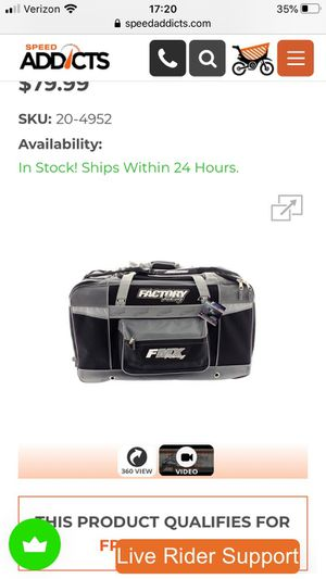 New FMX Racing riding gear duffle bag. for Sale in Lake Stevens, WA