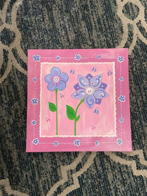 Girls room pink decorative canvas frame for Sale in Paramount, CA