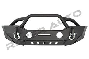 Jeep Wrangler JK/JL 2007-2019 Rock Crawler Stubby Front Bumper With Double Wrap Plate, Fog Lights Hole & Winch Plate for Sale in Pomona, CA