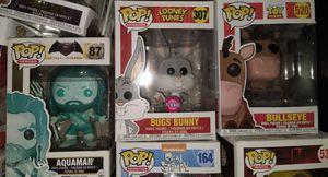 Funko Pop: Aquaman 87; Bugs Bunny 307; Bullseye 520 for Sale in El Paso, TX