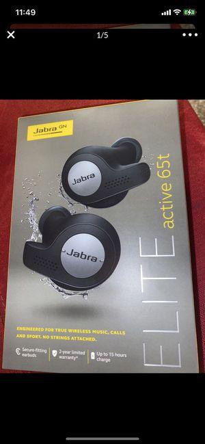 Wireless earphones JABRA ELITE active 65ft earbuds for Sale in Las Vegas, NV
