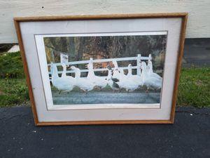 Huge duck duck goose wooden frame art print pic for Sale in Everett, WA