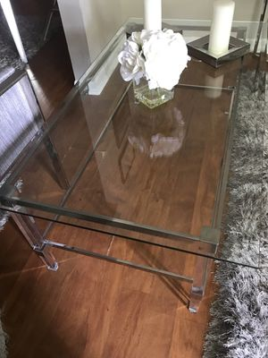 Set Coffee table with acrylic Legs &two end table $130 for Sale in Miami, FL