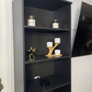 Matte Black Shelving/Entertainment Stand. Mint Condition. for Sale in Los Angeles, CA