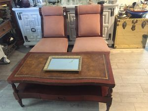 Antique coffee table and chairs for Sale in Rancho Cucamonga, CA