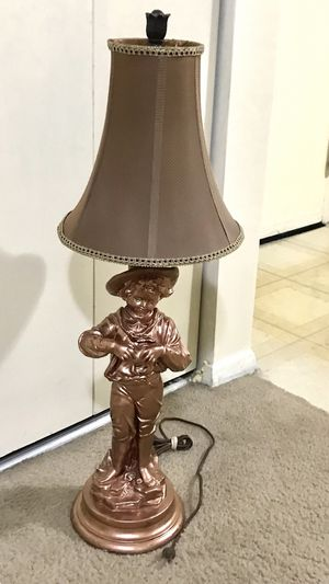 "33"" tall collectible lamp statues brown bronze color still available for pick up in Gaithersburg md20877 for Sale in MONTGOMRY VLG, MD"