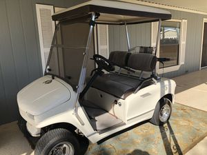 Golf cart. Western (EZGO). Built in transformer. Built in cooling area. Batteries and tires and wheels are only three years old. Seat cover redone. for Sale in Fort McDowell, AZ