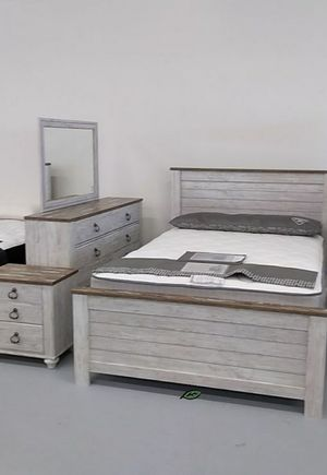 🙋‍♀️♨️♨️ Best Offer ♨️Willowton Whitewash Panel Bedroom Set | B267 🙏🙏🙏 for Sale in Jessup, MD